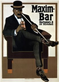 Vintage Maxim-bar Advertisement Poster.
